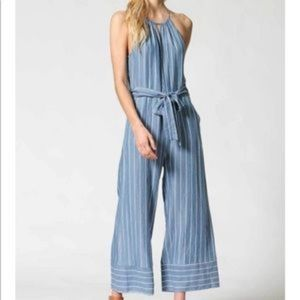 Fate Cora pinstriped Tencel jumpsuit